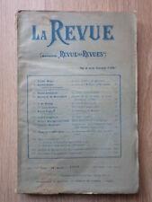 LA REVUE (Ancienne Revue des Revues) Nr 1 Octobre 1903 JEAN FINOT Lettres V Hugo