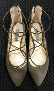 INC (USA) - Suede Leather low heeled Flats, sable mid brown US7.5 EU38.5 BNWT