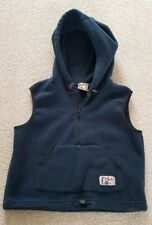 Vintage 90s y2k noughties Mambo Fleece Body Warmer Gilet Hood 10 M Surf exc cond