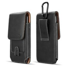 Vertical Leather Cell Phone Pouch for Samsung Galaxy Note 8 Note 9 Holster Clip