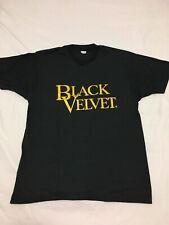 MINT Vtg 70s Black Velvet Canadian Whiskey 50/50 Made In USA T Shirt Large 80s