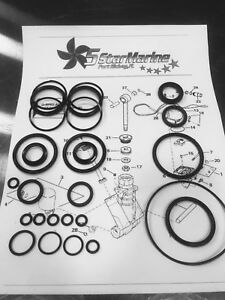 Rebuild Kit!! Johnson Evinrude OMC Trim & Tilt O-Ring & Seal Kit 434519 0434519