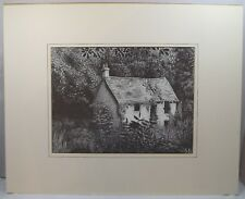 MODERN SIGNED LTD. ED. PRINT OF A DERELICT COTTAGE  BY PETER HOWES