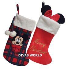 Disney Mickey Minnie Mouse Stockings Christmas Hanging Stocking Filler Xmas Gift