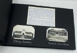 Tourist Real Photograph Album Cruise SS Doric 1933 White Star Line Baltic & Med
