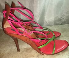 LOUIS VUITTON Size 10.5 Women's Multi Colored High Heel Strappy Sandals