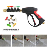 High Pressure Washer Gun, 3000 PSI with 5-Color Nozzles For Pressure Water Jet