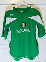 RARE Authentic Umbro Ireland Erin Go Bragh Soccer Jersey Adult Medium Green