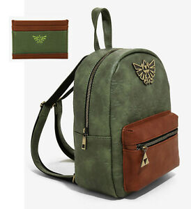 The Legend of Zelda Royal Crest Triforce BioWorld Backpack Bag & Card Holder NWT