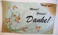 Fahne Flaggen DANKE MERCIE GRACIA THANK YOU / 150x90cm TDShop24