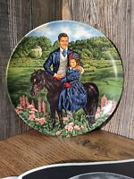 "Vintage Collector Plate ""Bonnie And Rhett"" By MGM From Edwin M. Knowles D5"