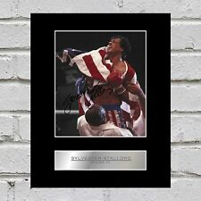 Sylvester Stallone Signed Mounted Photo Display Rocky IV