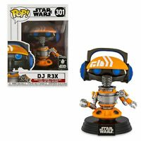 Rare DJ R3X Star Wars Funko Pop Vinyl New in Mint Box + Protector