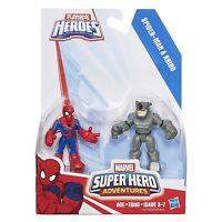 Playskool Heroes Marvel Super Hero Adventures - Spider-Man & Rhino Figures