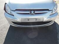 PEUGEOT 307 FRONT BUMPER, T5, NON WASHER TYPE, 12/01-09/05