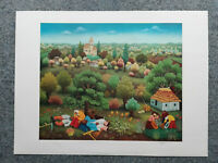 Ivan Generalic Farblithographie 1979 Mittagspause signiert + numm. XIV / XXXV