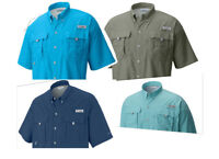 NEW COLUMBIA MEN BAHAMA SHORT SLEEVE SHIRTS