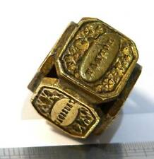 More details for  antique victorian  brass  wax letter seal stamp fob days of week cube wax  seal