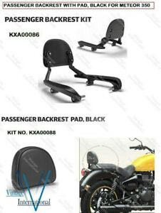 For Royal Enfield Meteor 350 Passenger Backrest Kit With Black Pad @AD