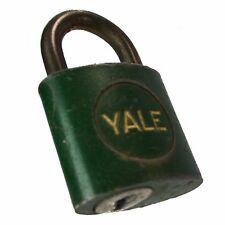 YALE & GUARD Padlock Green Vintage Old Antique Lock (no key)