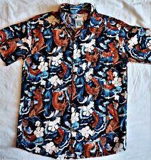 TUBES Men Rayon Shirt, Size M, Dragon Print