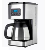 # Kaffeemaschine Thermo-Kaffeeautomat mit 24-Std Timer Thermoskanne Edelstahl -