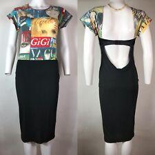 Rare Vtg Dolce & Gabbana D&G Magazine Cutout Dress S