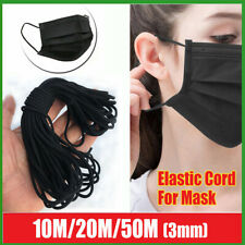 Elastic Band Cord 1/8 inches width Sewing For Diy 10yards to 50 Yards Black