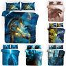 3PCS Godzilla Bedding Set Quilt Duvet Cover Pillowcases Soft Comforter Cover Set