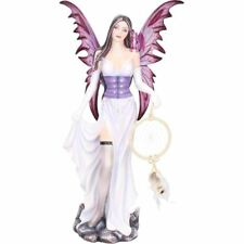 Large Fantasy Fairy Holding Dreamcatcher Statue Sculpture Ornament Figure Gift
