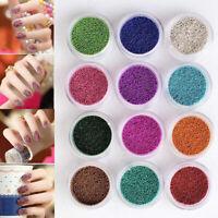 Nail Art Decoration 12 Colors Pearls Micro Beads UV Acrylic 3D Caviar Gel Decor