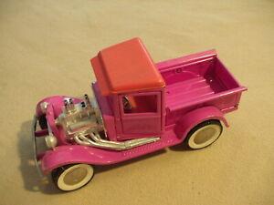 Buddy L. Pink Hot Rod truck, pressed steel