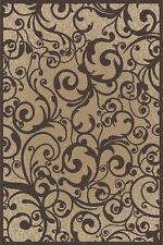 "8x8 Radici Beige Floral Swirls Curls Area Rug Round 1845 - Aprx 7' 10 x 7' 10"""