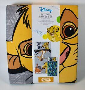 Disney Lion King Easy Care Single Duvet Set 135cm X 200cm Cotton Blend