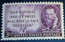 US Scott  946 Joseph Pulitzer  3c MNH OG F-VF