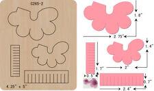 New Flowers  wooden die Cutting Dies  Scrapbooking  C-265-2