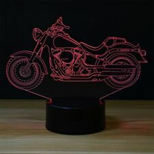 Harley Davidson Moto 3D Illusion 7 Farbe LED Licht Nacht Tischlampe ändern Lamps