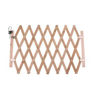 Retractable Gate Expanding Fence Wooden Screen Door Gates Portable Dog Pet Gate