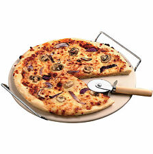 New Oven - Safe Pizza Stone & Rack Cook Ware