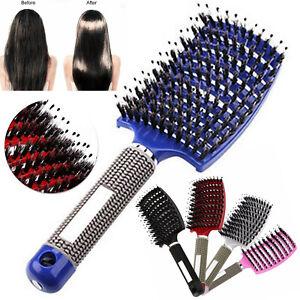 1/2x Detangling Nylon Bristle Brush Detangle Hairbrush Hair Scalp Massage Comb