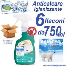 Sanitec Igienikal Bagno Anticalcare profumato Igienizzante. H.A.C.C.P. Cf. 6 pz