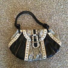 ladies river island shoulder handbag with snakeskin design