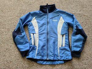 EUC Swix Women's Nordic Cross Country Ski Jacket Full Zip Color Blue Size Small
