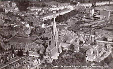 Exeter. St Davids Church from an Aeroplane # 4770 by Photochrom. Railway Station