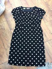 Ladies black spotty dress boden 14 r