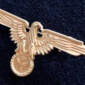PIN ANSTECKNADEL ADLER REICHSADLER WEHRMACHT EK BIKER HARLEY DAVIDSON GOLD