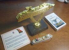 "Carnival ""Glory"" 4 Original Items: Ornament Model, Ship on Stick, Pin, Cards"