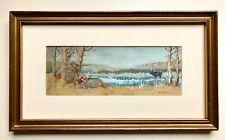 Gouache Watercolor Painting Western Hunter Moose Edwin Willard Deming West Hunt