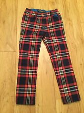 Mini Boden Boys Red Navy Plaid Pants. Size 6y. Excellent Condition