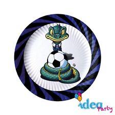 PIATTI INTER 18 cm - addobbi tavola festa compleanno tema squadra calcio 10 pz